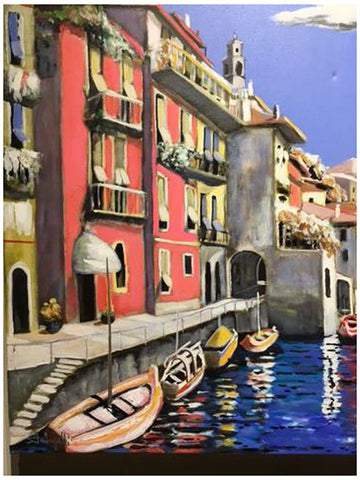 Luigi Fumagalli (Italian, b. 1937), Varenna #4, ca. 2007, oil on canvas, signed