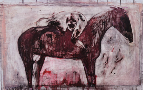 Kate Walters (British, contemporary), Horse As A Guide, 2016, watercolor on gessoed prepared paper