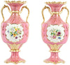 Pair of English Gilt Porcelain Vases, Cauldon