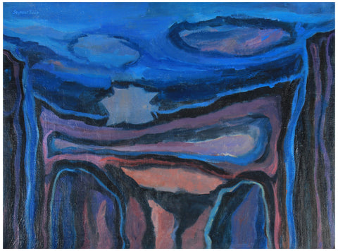 "Seymour Tubis (American, 1919-1993), ""The Blue Cliffs II"", 1953, oil on canvas, signed"