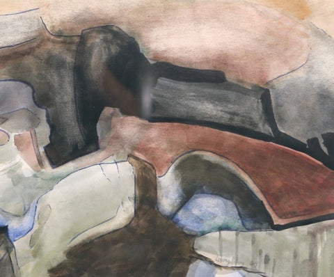 William Lumpkins (American, 1908 -2000), Untitled (Abstract), 1969, watercolor on paper, signed