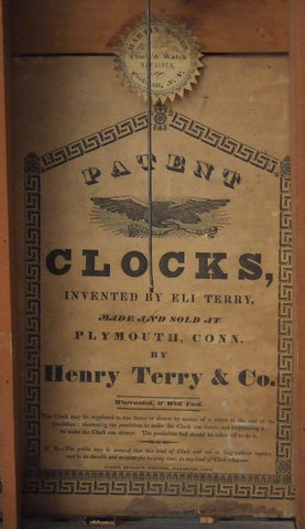 American Shelf/Mantel Clock, manufactured by Henry Terry & Co., Plymouth, Ct., C. 1835