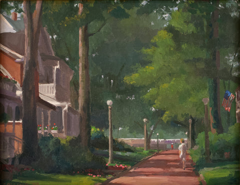 Jacob Collins (American, b. 1964), Hometown, 1993, oil on canvas, signed