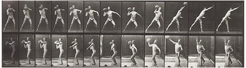 Eadweard Muybridge (British, 1830-1904), Throwing a Medicine Ball, 1887, collotype