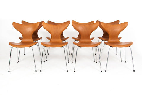 Set of Eight 'Seagull' Chairs, designed by Arne Jacobsen (Danish, 1902-1971), ca. 1969, for Fritz Hansen