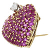Heart-Shaped 14K Yellow Gold, Diamond, and Ruby Pin/Pendant, Tiffany & Co.