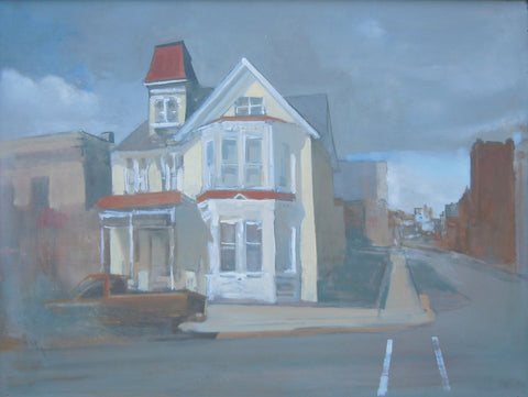 "Steve Smith (American), ""Yellow House, Uptown Butte"", 2008, oil on panel"