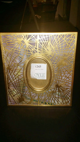"Tiffany Studios ""Pine Needle"" Gilt Bronze and Favrile Glass Picture Frame, ca. 1900-1919"