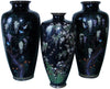 Three Large Japanese Cloisonné  Enameled Vases, Meiji period (1868-1912)