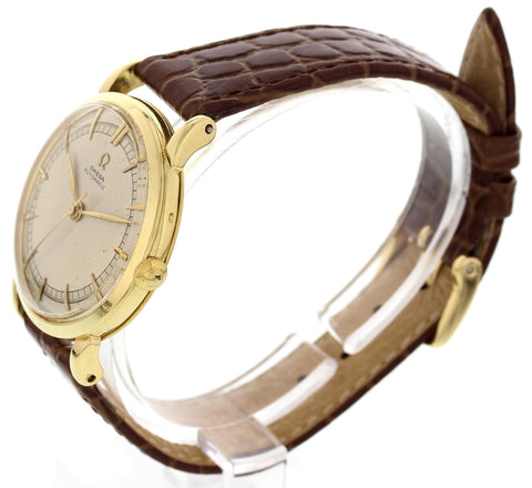 Men's Vintage Omega 18K Yellow Gold Automatic Watch