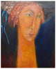 "Marj Bond (Scottish, b. 1939), ""Vanessa"", oil on canvas, signed"