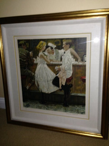 "After Norman Rockwell (American, 1894-1978), ""After the Prom"", lithograph in colors, signed, ed. 200"