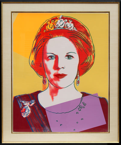 "Andy Warhol (American, 1928-1987), ""Queen Beatrix"", 1985, screenprint in colors on Lennox Museum Board, signed, ed. 40"