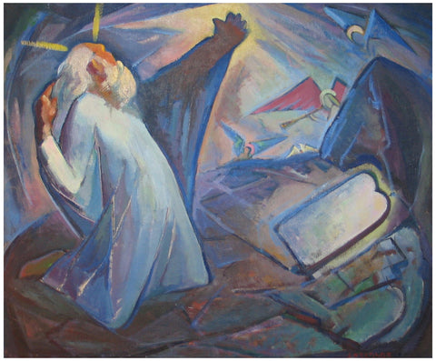 Omer Thomas Lassonde, (American, 1903-1980), Revelation, oil on canvas, signed