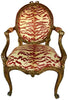 Pair of Italian Carved and Giltwood Fauteuils, mid 18th century