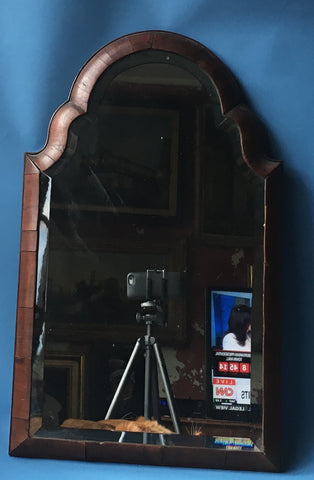 Queen Anne Walnut-Veneered Mirror, ca. early 18th century