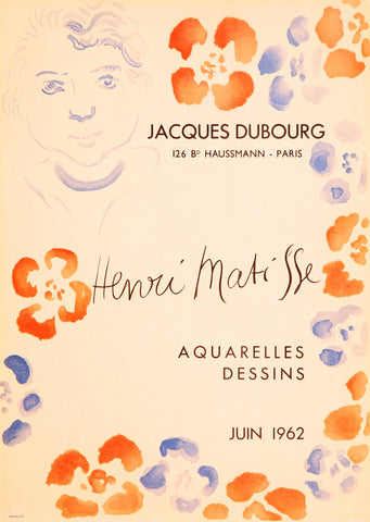"After Henri Matisse (French, 1869-1954), ""Jacques Dubourg"", 1962, lithographic poster, ed. 300"