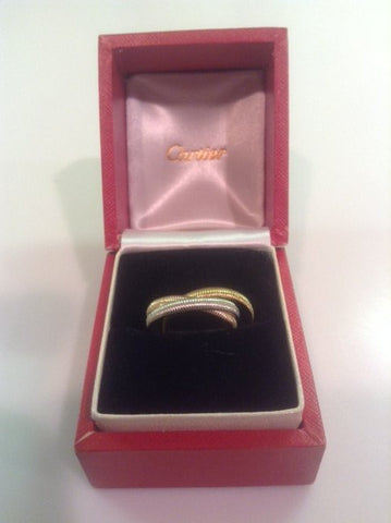 18K Tri-Color Gold 'Trinity' Ring, Cartier, ca. 1970s