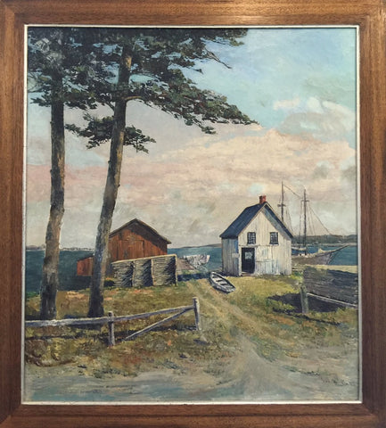 Theodore Winfield (American, 1894-1965), Saint James Bay Beaver Island, oil on canvas, signed