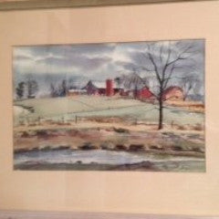 Ranulph Bye (American, 1916-2003), Bucks County Pastoral Scene, watercolor on paper, signed