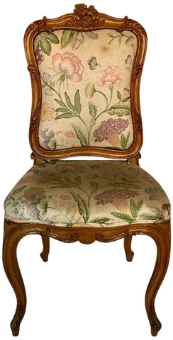 French Beechwood Petite Chaise, of Louis XV Style, mid to late 18th century