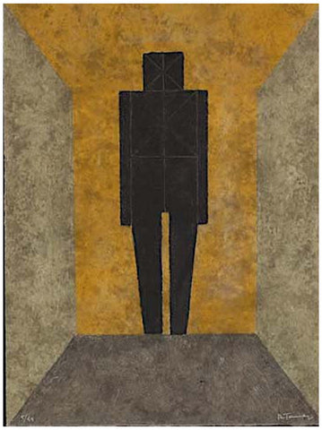 Rufino Tamayo (Mexican, 1899-1991), Figura en Negro (Figure in Black),1977, etching in colors, signed and numbered, ed. 99