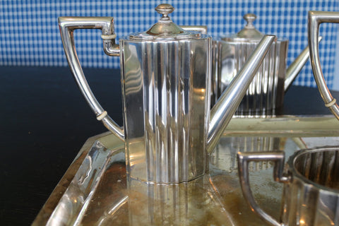 Austrian Silver Six Piece Tea and Coffee Service, Vienna, early 20th century