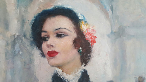 Pá‡l Fried (Hungarian/American, 1893-1976), Elegant French Woman, oil on canvas, signed