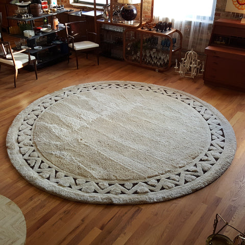 Round Wool Rug, ca. 1978, manufactured by Edward Fields, 10 ft. 6 in.