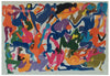 Walter Whall Battiss (South African, 1906-1982), Orgy 2, screenprint in colors, ca. 1975, signed