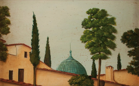 "Jean-Pierre Besenval (French, b. 1956), ""La Cupola"", oil on panel"