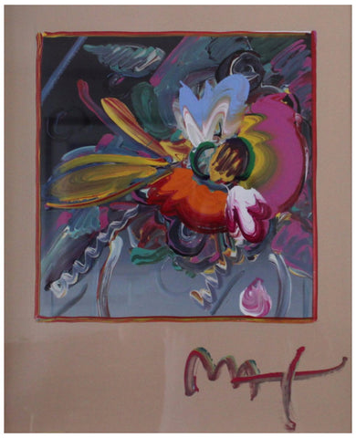 Peter Max (American, b. 1937), New York Flower Show, 1999, mixed media with acrylic and color lithography on paper, signed