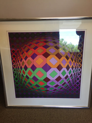 "Victor Vasarely (Hungarian/French, 1906-1997), ""Dombokta"", ca. 1978, screenprint in colors, signed, ed. 250"