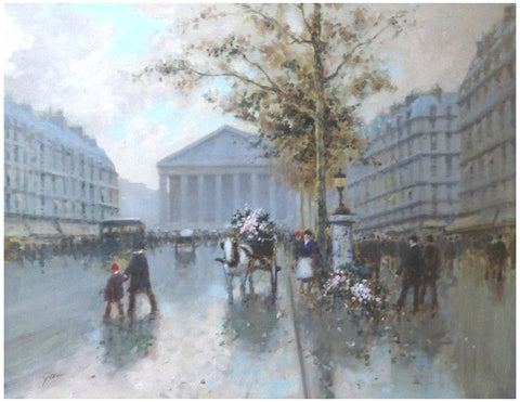 André Gisson (American, 1921-2003), Paris Street Scene, oil on canvas, signed