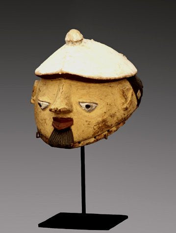 Yoruba Gelede Mask, wood, pigment and fiber, Nigeria, late 19th/early 20th century