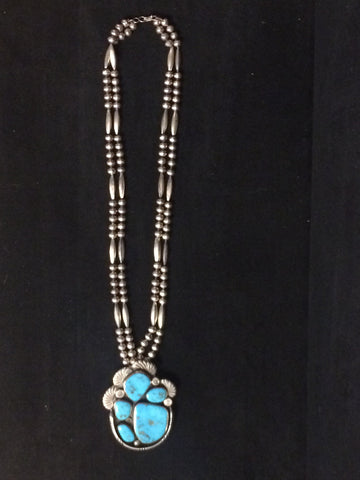 Navajo Silver and Turquoise Necklace, Tom Bahe (1924-2006), ca. 1960s