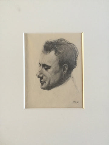 Balthus (Balthasar Klossowski de Rola) (Polish/French, 1908-2001), Study of the head of a man, ca. 1930, pencil on paper