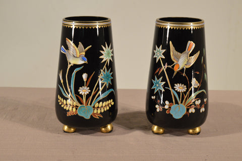 Pair of Victorian Opaline Glass Vases, ca. 1860-1880