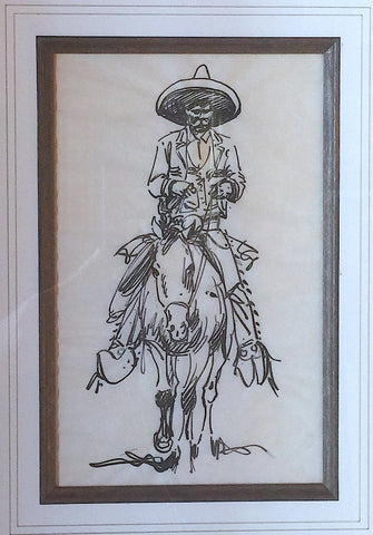 Edward Borein (American, 1872-1945), Untitled (Mounted Vaquero), ink on paper