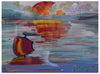Peter Max (American, b. 1937), American 500: Sunset, mixed media with acrylic and color lithography on paper, signed