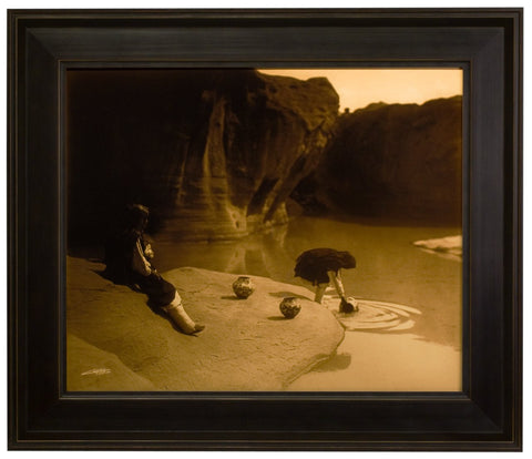"Edward S. Curtis (American, 1868-1952), ""At the Old Well - Acoma"", taken 1904, printed 2008, contemporary goldtone/orotone"