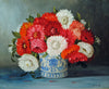 "Colette Privat (French, b. 1935), ""Dahlias"", oil on canvas, signed"
