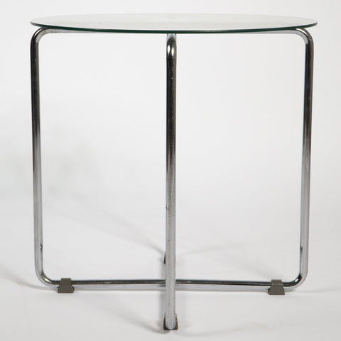 German Bauhaus Side Table, model no. B27, Marcel Breuer  (1902-1981), manufactured by Thonet, 1928