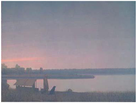 "Russell Chatham (American, b. 1939), ""Winter Dawn On The South Platte River"", 2000, lithograph in colors, signed"