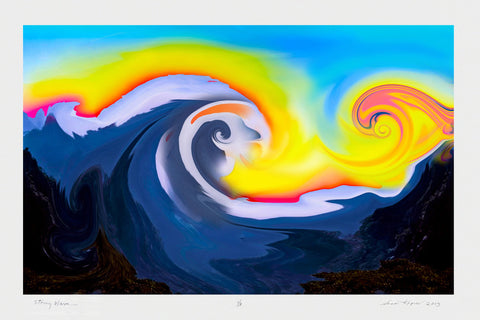 "Susan Kaprov (American, Contemporary), ""Stormy Wave"", 2013, pigment print, signed, dated, ed. 3"