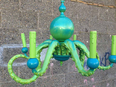 Adam Wallacavage (America, b. 1969), Untitled (Octopus Chandelier #1), ca. 2010, epoxy resin