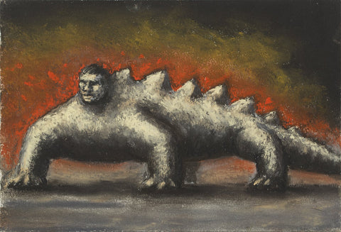 Peter Booth (Australian, b. 1940), Lizard Man, pastel on paper