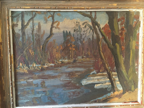 Hugh Campbell (American, 1905-1997), Rancocas Creek, ca. 1941, oil on canvas, signed
