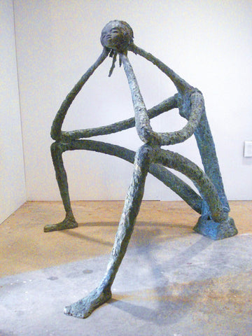 "Ángel Botello (Spanish, 1913-1986), ""Mujer Pensando (Thinking Woman)"", ca. 1960s, bronze, signed"
