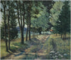 Theodore  Winfield (American, 1894-1965), Lane to Cabin at Cross Village, Michigan, oil on canvas, signed
